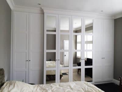 Шкаф-Распашной под Потолок с Зеркалом