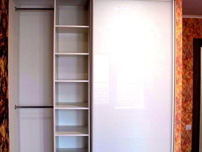 Шкаф-Купе Встроенный в Нишу Oracal Белый 2 Двери